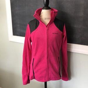 Columbia Women's Pink Fleece Zip Jacket L